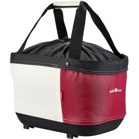 KlickFix Shopper Alingo GT Bagagedrager Winkelmand voor Racktime, rood/beige